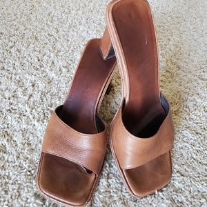 Via Spiga Italian Leather Heeled Slides